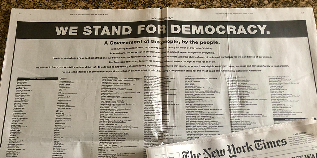 We Stand for Democracy
